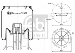 Air Suspension Boot FEBI BILSTEIN 39504-10