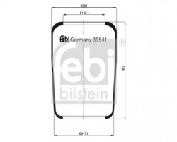 Air Suspension Boot FEBI BILSTEIN 39541-10