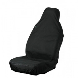 Car Seat Cover Stretch Front Single Black-10
