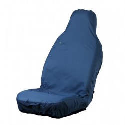Car Seat Cover Stretch Front Single Blue-10