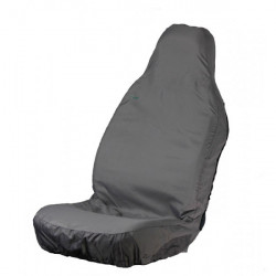 Car Seat Cover Stretch Front Single Grey-10