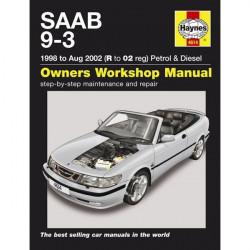 Saab 9-3 Petrol and Diesel (98 Aug 02) R to 02 Reg Car Manual-10