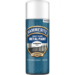 Direct To Rust Metal Paint Hammered White 400ml-10