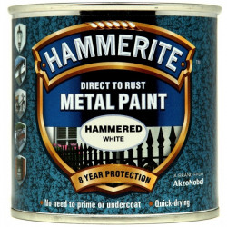 Direct To Rust Metal Paint Hammered White 250ml-10