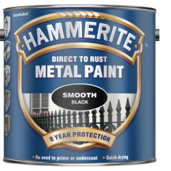Direct To Rust Metal Paint Smooth Black 2.5 Litre-10