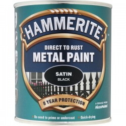 Direct To Rust Metal Paint Satin Black 2.5 Litre-10