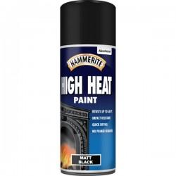High Heat Paint Aerosol Matt Black 400ml-10