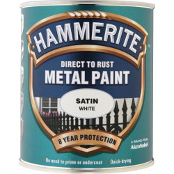 Direct To Rust Metal Paint Satin White 750ml-10