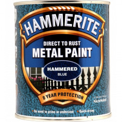 Direct To Rust Metal Paint Hammered Blue 750ml-10