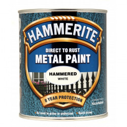 Direct To Rust Metal Paint Hammered White 750ml-10