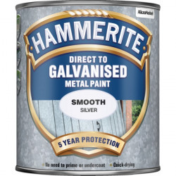 Direct To Galvanised Metal Paint Silver 750ml-10