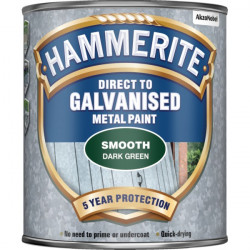 Direct To Galvanised Metal Paint Dark Green 750ml-10