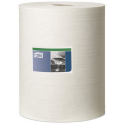 1 Ply Premium Heavy Duty Cleaning Cloth White 106m Combi Roll-10