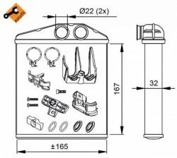 Heat Exchanger NRF 54208-10