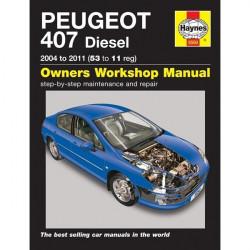 Peugeot 407 Diesel (04-11) 53 To 11 Reg Car Manual-10