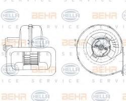 Interior Blower for Mercedes O 405 HELLA 8EW009158-611-11