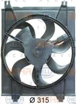 Fan, A/C condenser HELLA 8EW 351 034-621-11