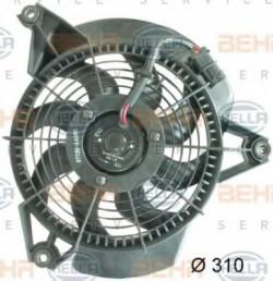 Fan, A/C condenser HELLA 8EW 351 034-741-11