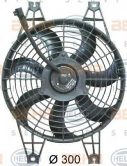 Fan, A/C condenser HELLA 8EW 351 034-761-11