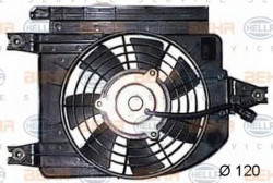 Fan, A/C condenser HELLA 8EW 351 044-381-11