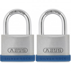 Silver Rock 5 Zinc Padlock 40mm Twin Pack-10