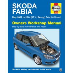 Skoda Fabia Petrol and Diesel May 2007 to 2014 Car Manual-10