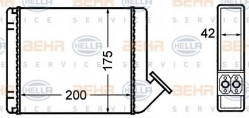 Heat Exchanger, interior heating HELLA 8FH 351 308-131-11