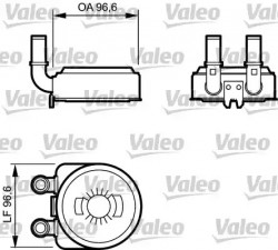 Oil Cooler VALEO 817705-10