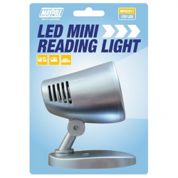 12V LED Mini-Reading Light Silver-10