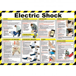 Electric Shock Treatment Guidance Poster 59cm x 42cm-10