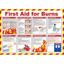 First Aid For Burns Poster 59cm x 42cm-10
