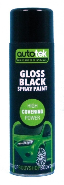 Autotek Gloss Black Spray On Paint High Coverage 500ml-11