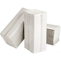 2 Ply White C-Fold Paper Hand Towels 15 Packs of 160 Sheets-10