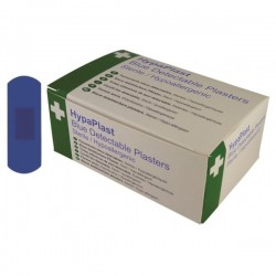 HypaPlast Blue Catering Plasters Pack of 100-10