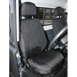 Car Seat Covers Front Pair Black Land Rover Defender (2007 Onwards)-10