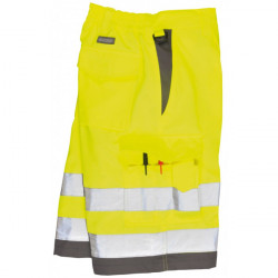 Hi-Vis Polycotton Shorts Yellow/Grey Large-10