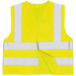 Junior Hi-Vis Vest Yellow Age 4 to 6-10