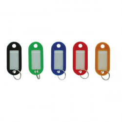 Plastic Key Fobs Assorted Colours Pack of 50-10