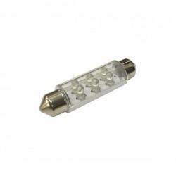 LED Bulb 12V SV8.5 6-LED White-10