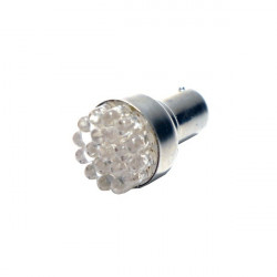 LED Bulb 12V BA15S 19-LED Yellow-10