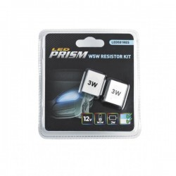 LED Bulb 12V T10 Wedge Resistor Kit White-10