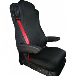 Truck Seat Cover Passenger Black Mercedes Actros and Antos Euro 6-10
