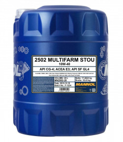 MANNOL Multifarm STOU 10W-40 CG-4 20 litres Tractor Agricultural Oil-11
