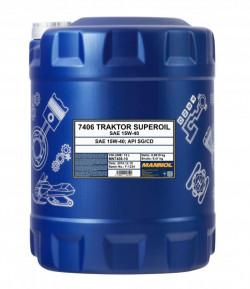 10 Litre MANNOL Traktor Superoil 15W-40 API SG/CD-11