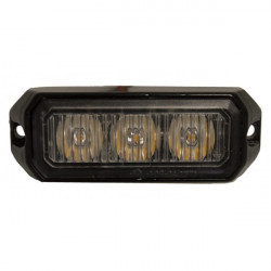 LED Strobe Lamp Amber 3 x 3W 12/24V-10