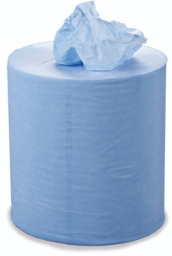 2 Ply Blue Centrefeed Roll 104m x 175mm Pack of 6-11