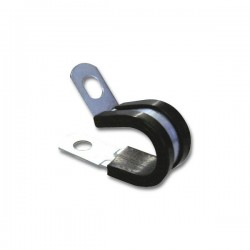Rubber Lined P Clips 6mm Pack of 10-10