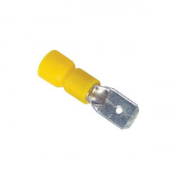 Wiring Connectors Yellow Male 250 6.3mm Pack of 50-10