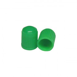 Car Dust Caps Green Set Of 4-10