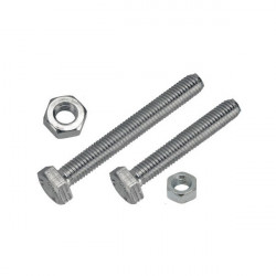 Set Screw and Nut M4 x 20mm Pack of 2-10